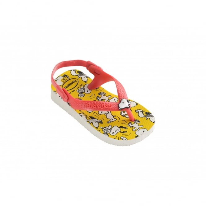 Children's Shoes Baby Snoopy White, the original flip flop with elastic back strap