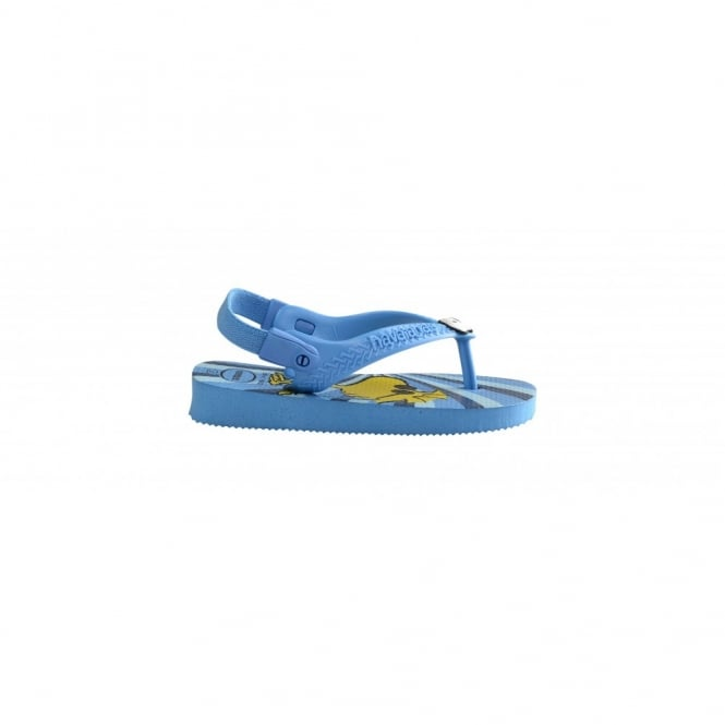 Children's Shoes Baby Snoopy Turquoise, the original flip flop with elastic back strap