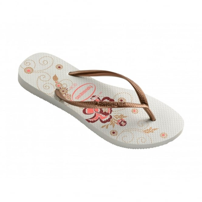 Children's Shoes Slim Organic White, a colourful take on the original flip flop