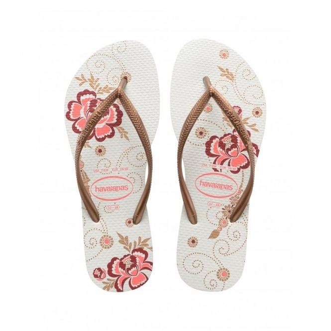 Havaianas Slim Organic White, a colourful take on the original flip flop