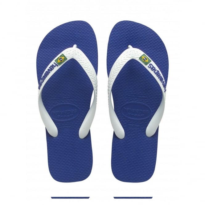 Havaianas Kids Brasil Logo Marine Blue, the original flip flop (but smaller!)
