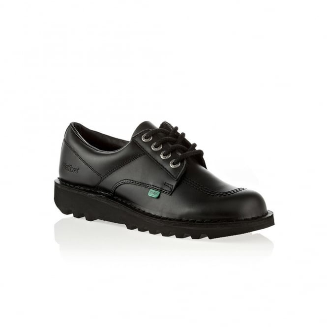 Kickers Kick Lo Womens Black, Leather lace up shoe