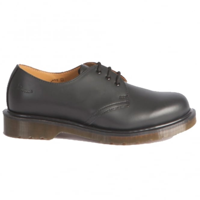 Dr Martens Adult 1461 PW Shoe Black, Black Stitch, Iconic Footwear
