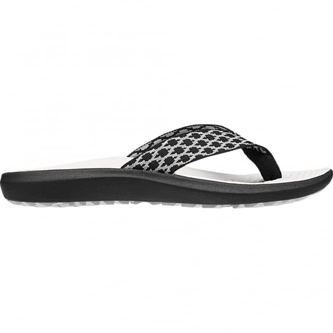 KEEN Womens Class 5 Flip, Black Vapor, contoured arch comfort