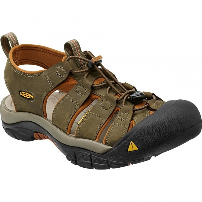 KEEN Mens Newport Beech/glazed Ginger, the original KEEN sandal with secure fit strap and toe bumper
