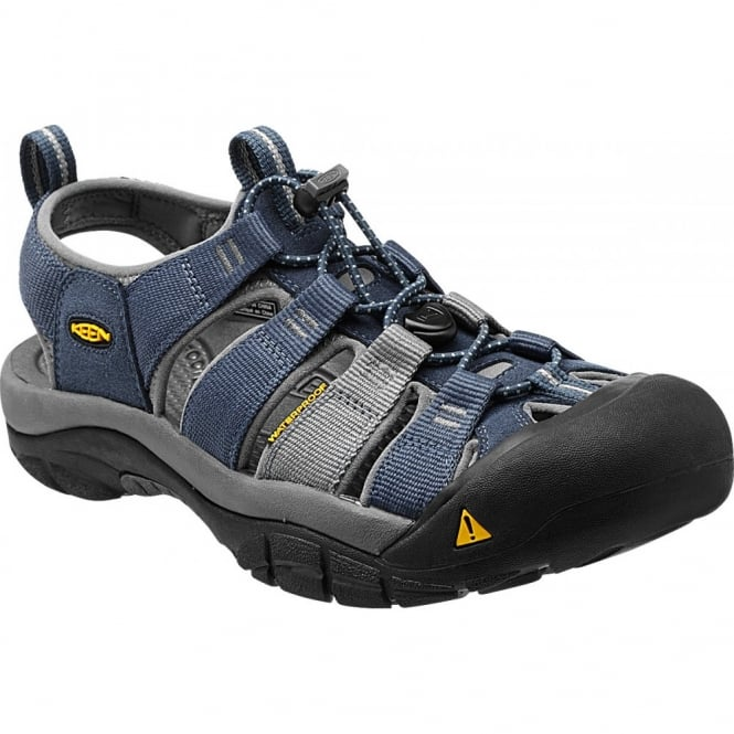 KEEN Mens Newport H2 Midnight Navy/Neutral Grey, the original KEEN sandal with waterphobic technology
