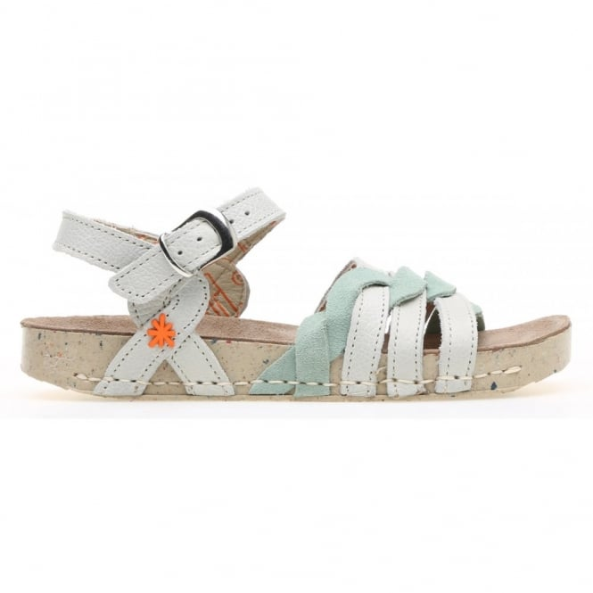 The Art Company Kids A430 I Play Gaucho Lux Suede Bone, girls buckle up sandal