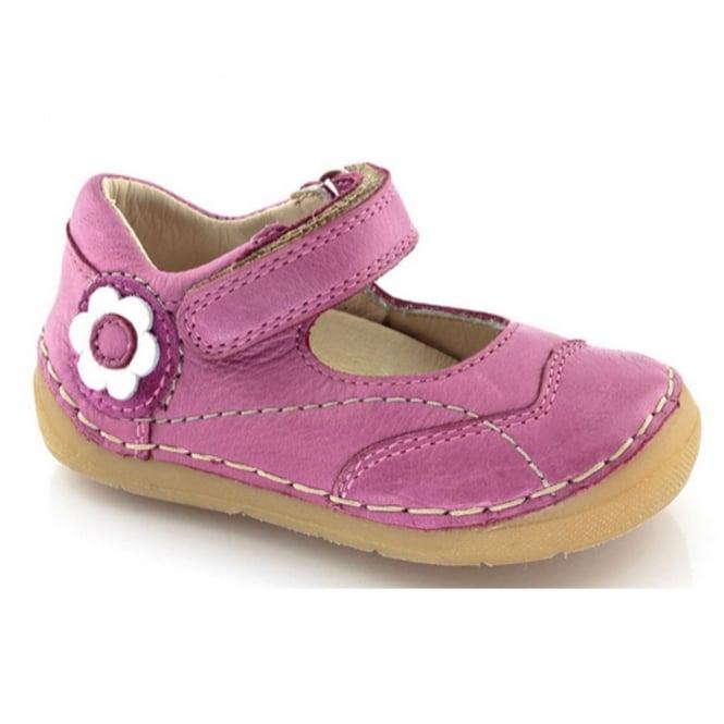 Froddo Mini Velcro MJ G2140014-2 Fuchsia, soft leather toddler shoe