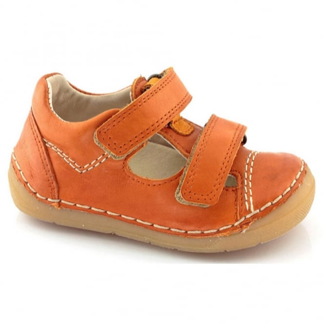 Froddo Mini Velco Sandal G2130057-5 Orange, soft leather toddler shoe