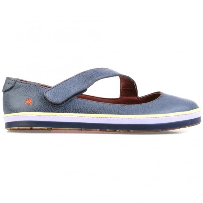 The Art Company I Smile 0818 Gaucho Flat Crepusculo, leather flat with velcro fastening