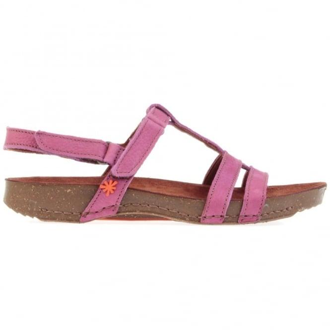 Sandals I Breathe 0972 Sandal Magenta, with 2 adjustable velcro straps