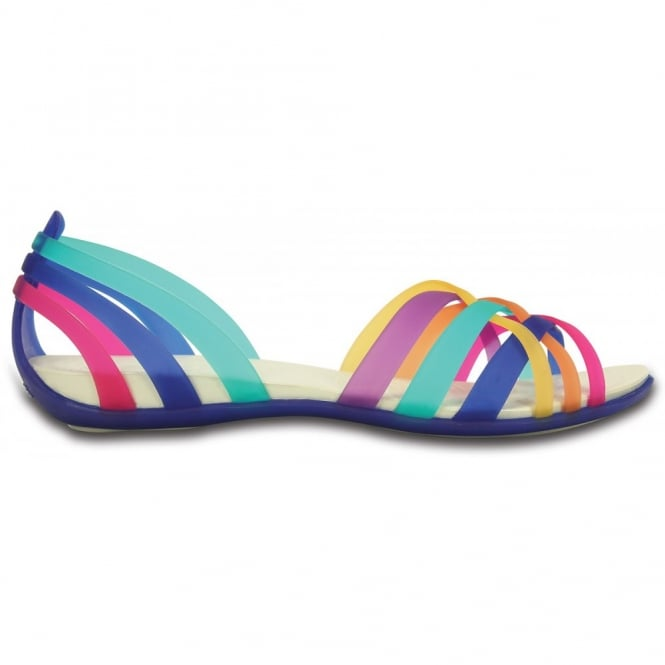 Low Shoes|Casuals Womens Huarache Flat Multi/Cerulean, Comfortable elegant, strappy flat