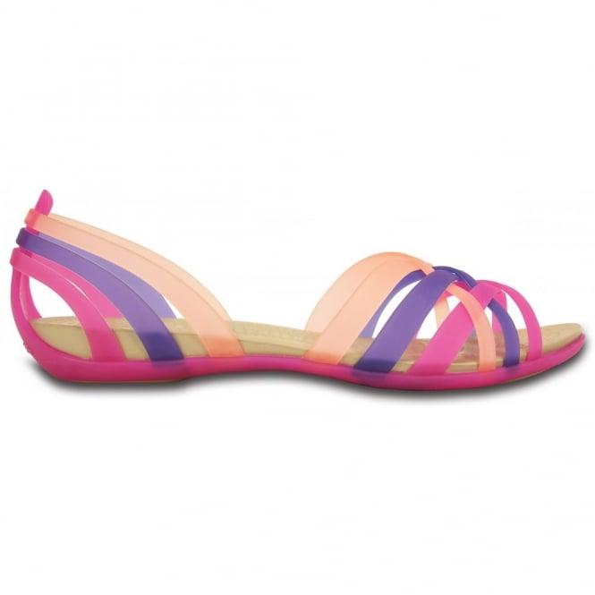 Low Shoes|Casuals Womens Huarache Flat Vibrant Violet/Melon, Comfortable elegant, strappy flat