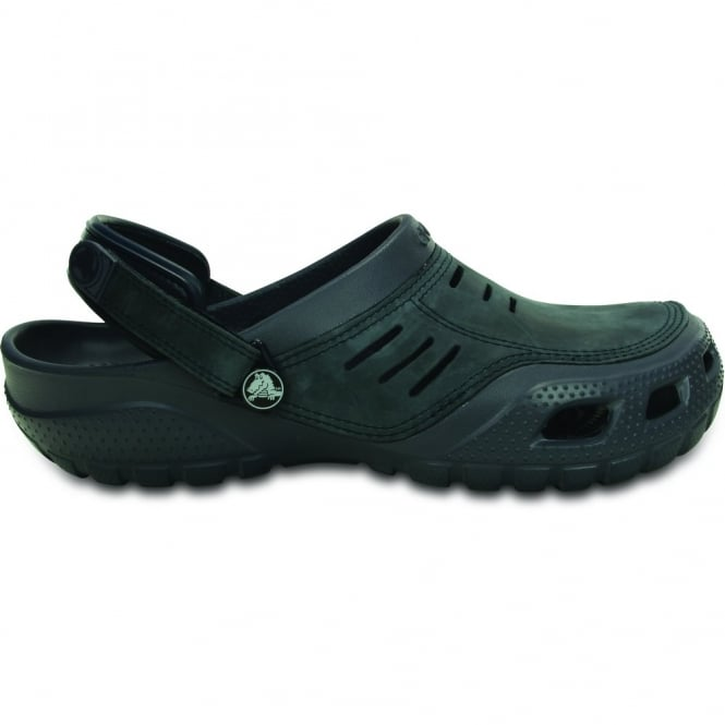Crocs Yukon Sport Storm/Navy, Men's Leather Topped Slip on Shoe