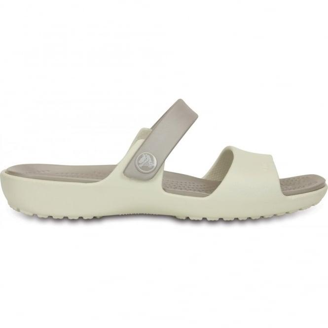 Crocs Coretta Sandal Oyster/Platinum, Two strap comfort sandal