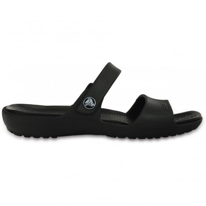 Crocs Coretta Sandal Black, Two strap comfort sandal