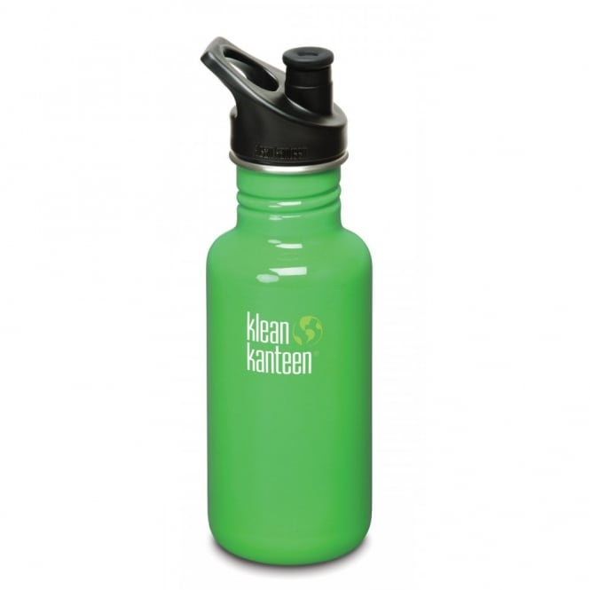 Klean Kanteen Classic 532ml Sports Cap Organic Garden, Stainless Steel Water Bottle great for on the move