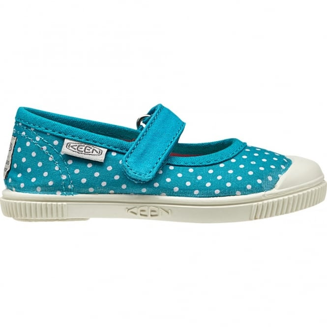 KEEN Kids Maderas MJ Capri Breeze Dots, adjustable hook and loop closure for quick on and off wear