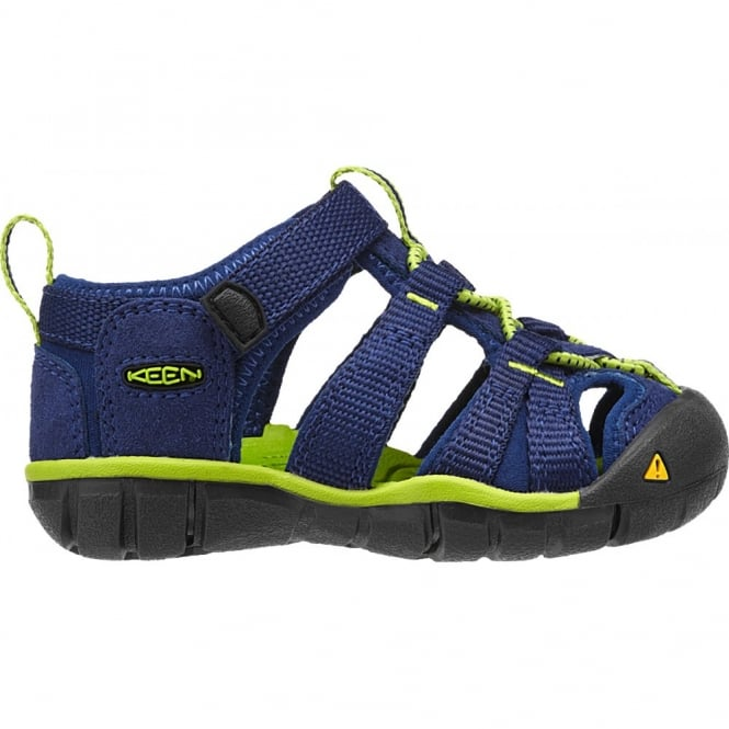 KEEN Infant Seacamp II Blue Depths/Lime Green,  a low profile lightened version of the orignal sandal