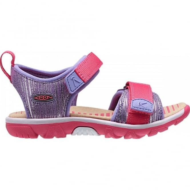 KEEN Kids Riley Purple Heart/Honeysuckle, a lightweight and flexabile sandal