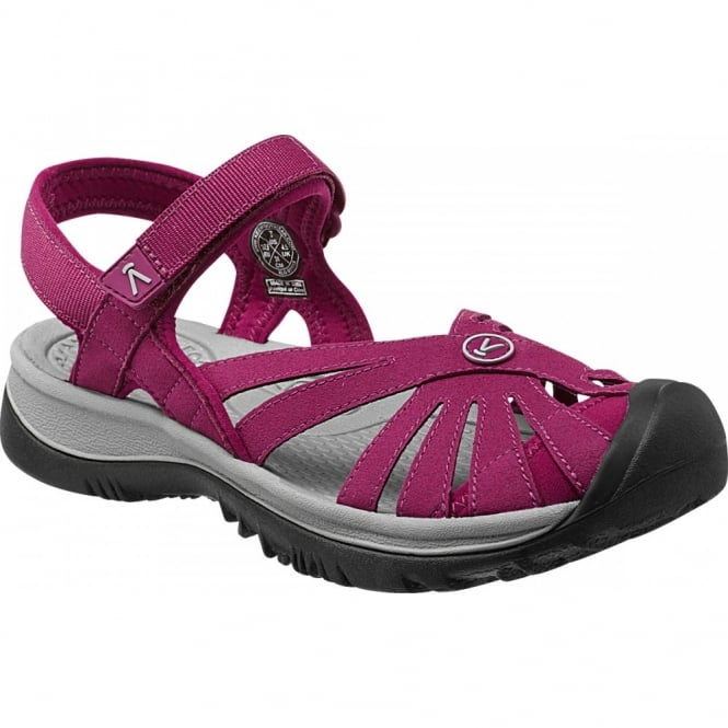 KEEN Womens Rose Sandal Beet Red/Neutral Grey, a washable sandal that provides comfort when you need it most!