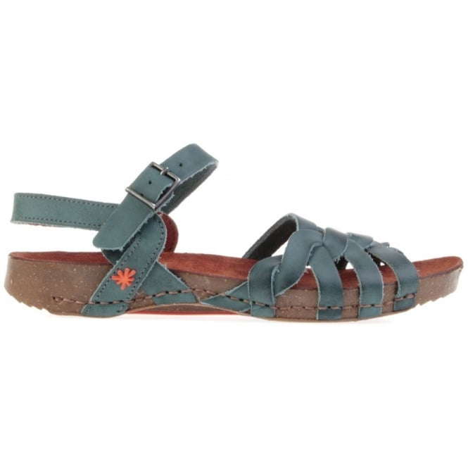 The Art Company I Breathe 0976 Sandal Tinted Plomo, leather sandal with buckle fastening