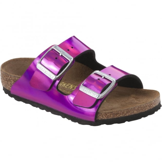 Birkenstock Kids Arizona Mirror Pink 553793, children classic two strap birkie