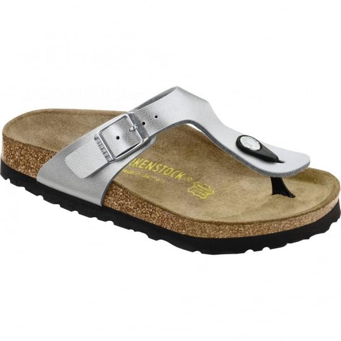Birkenstock Kids Gizeh Silver 846153 , single toe post sandal