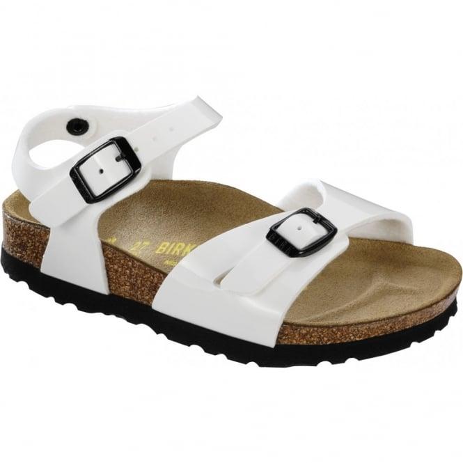 Birkenstock Kids Rio Patent White 231883, childrens birkie sandal