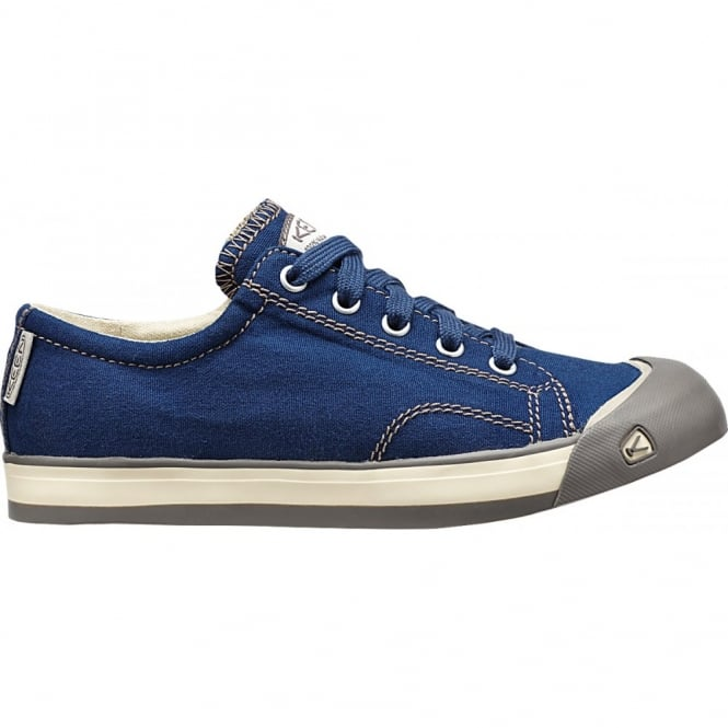 KEEN Youth Coronado Estate Blue/Brindle, a classic canvas sneaker updated style lace up with metatomical footbed