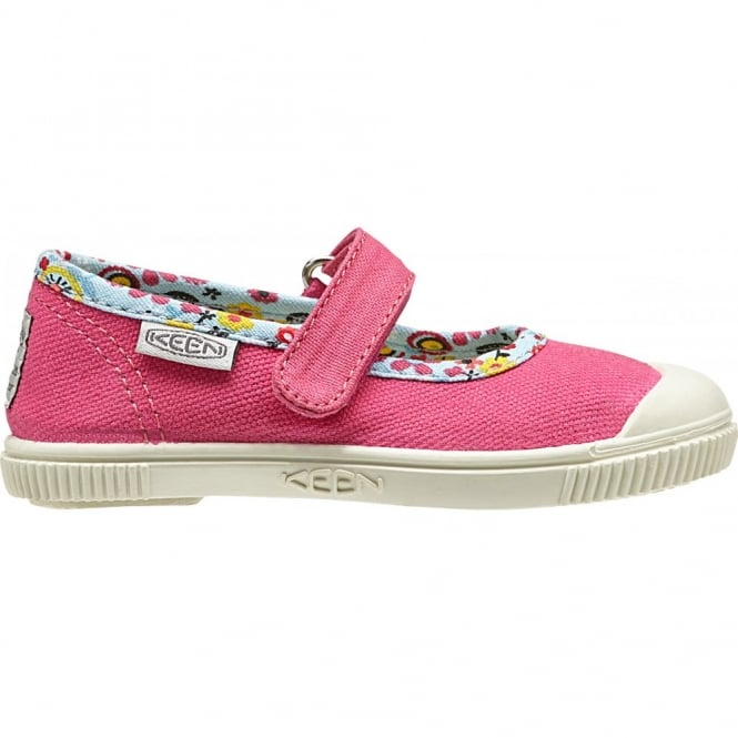 KEEN Kids Maderas MJ Honeysuckle Flowers, adjustable hook and loop closure for quick on and off wear