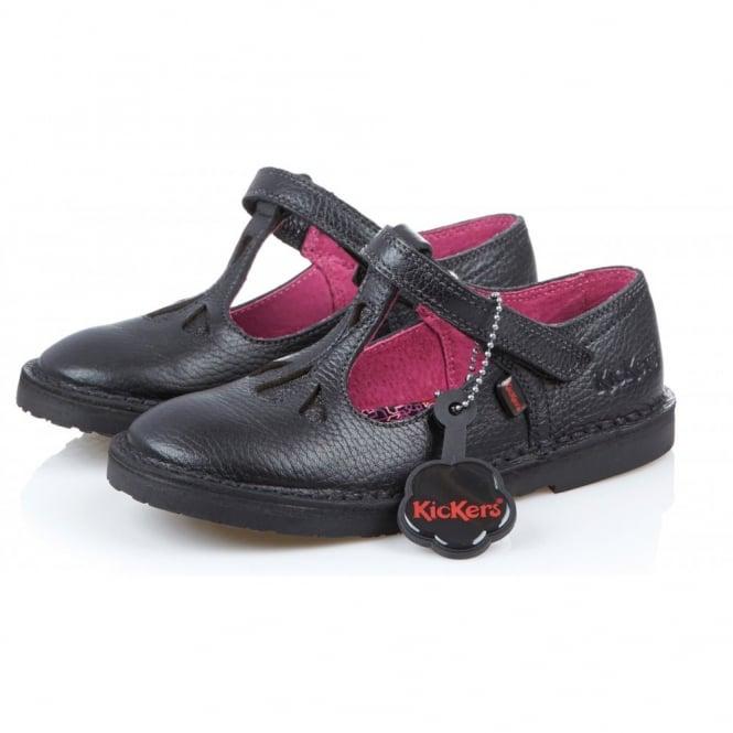 Kickers Adlar T Junior Black, leather school shoe