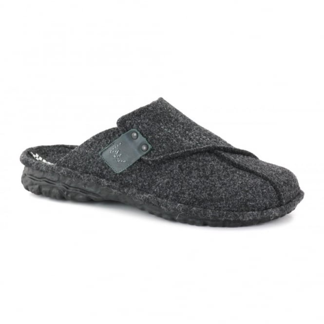 Romika Adult Mikado H35 Slipper Antracite, comfort shoe with hardwearing outer sole