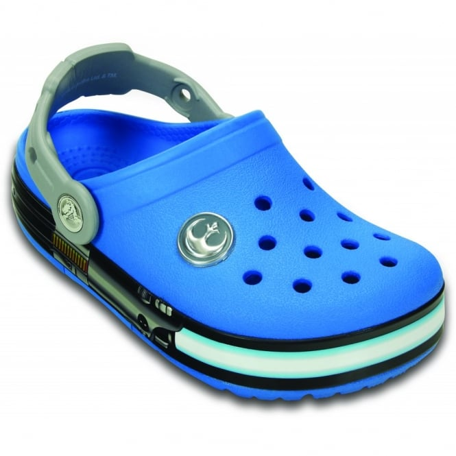 Crocs Kids Crocs lights Star Wars Jedi Clog Ocean/Light grey, with lightsaber elements to light up every step
