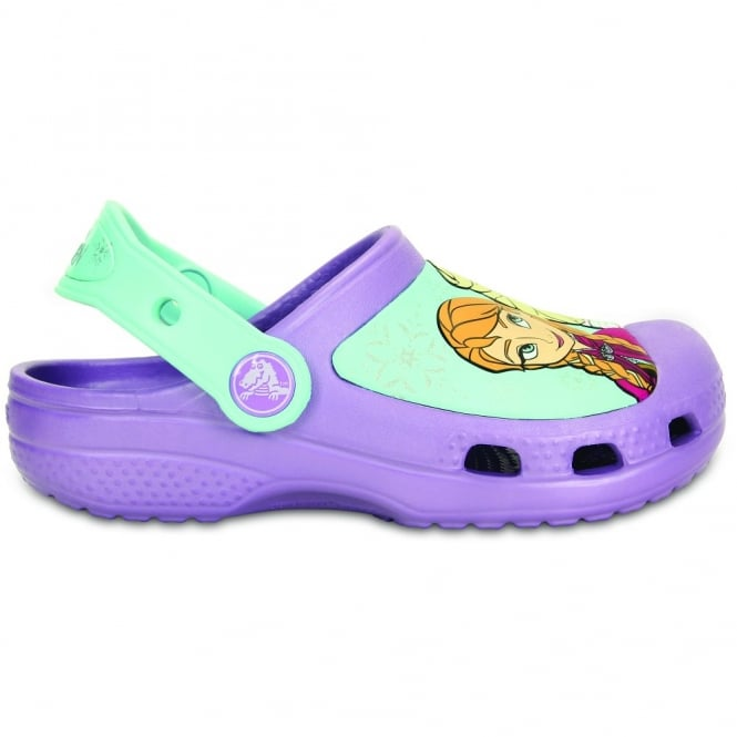 Crocs Kids Frozen Clog Iris, comfort topped with your favourite Disney Princesses!