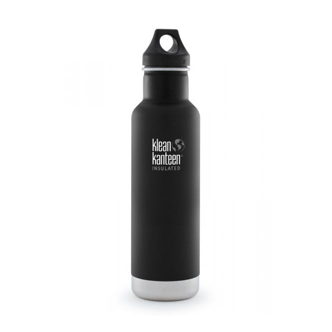 Klean Kanteen 592ml Classic Insulated Matte Shale Black, Water Bottle great for on the move
