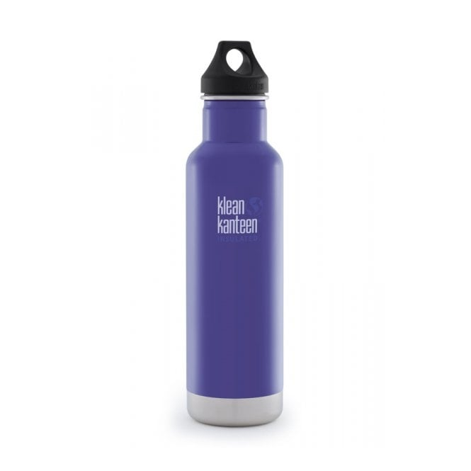 Klean Kanteen 592ml Classic Insulated Blooming Iris, Water Bottle great for on the move