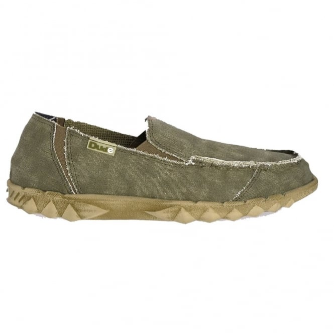 Dude Farty Classic Sage, canvas slip on mule