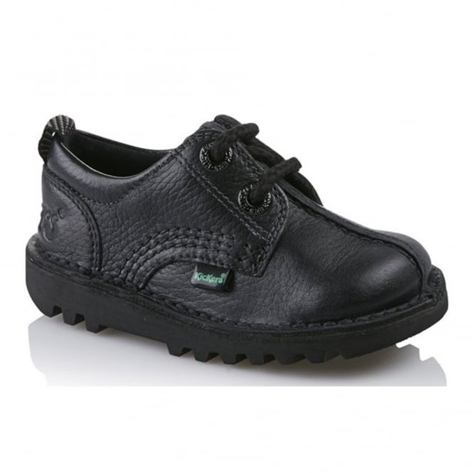 Kickers Kick Reverse Infant Shoe Black, Ideal for school