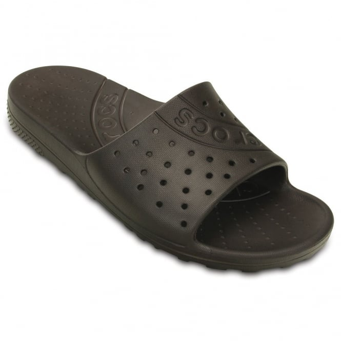 Crocs Chawaii Slide Espresso, lightweight slip on sandal perfect for around the house, pool or beach!