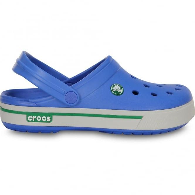 Crocs Crocband II.5 Clog Varsiry Blue/Kelly Green, Retro styled slip on croslite shoe
