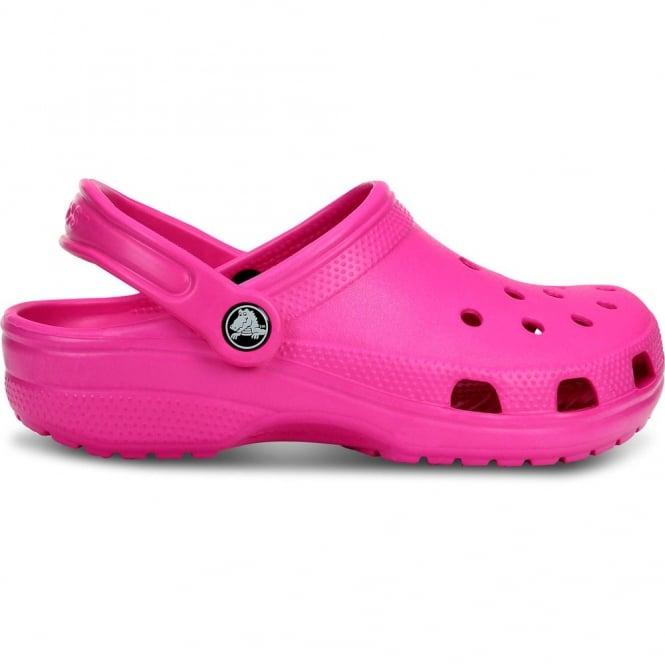 Crocs Classic Shoe Neon Magenta, Original Crocs slip on shoe