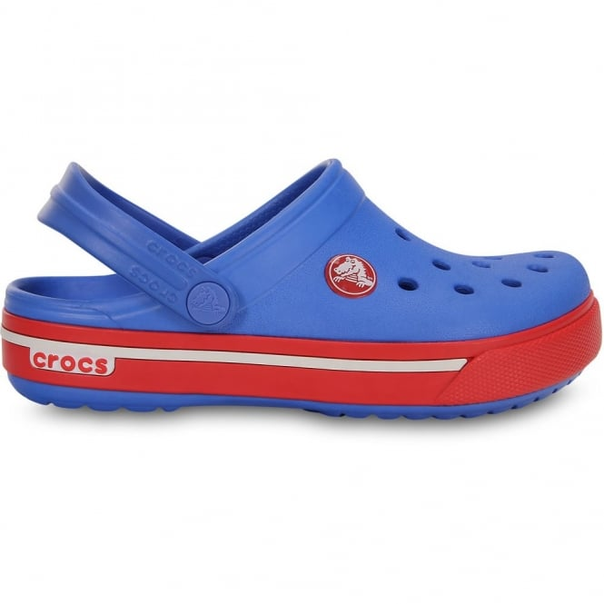 Crocs Kids Crocband II.5 Clog Varsity Blue/Red, All the comfort of a Classic but with a Retro look