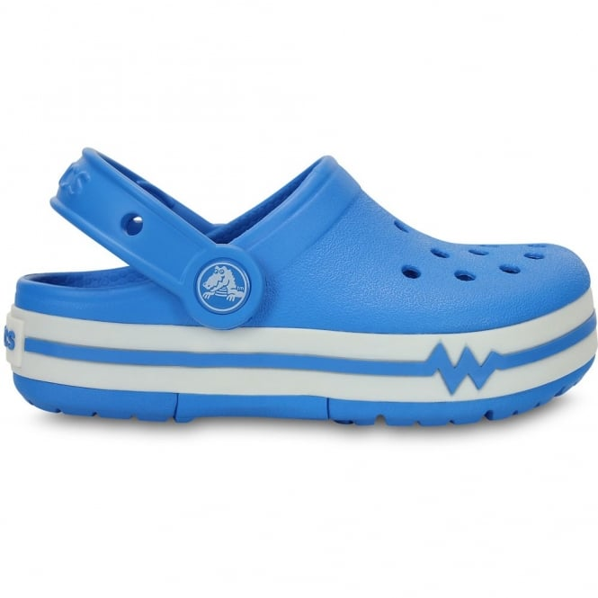 Crocs Kids CrocsLights Clog Ocean/White, the comfort of the Classic but with fun LED light up design
