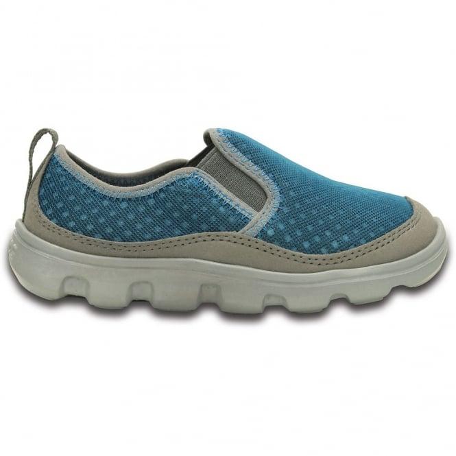Crocs Kids Duet Sport Slip On Ocean/Light Grey, very light with a cool mesh upper