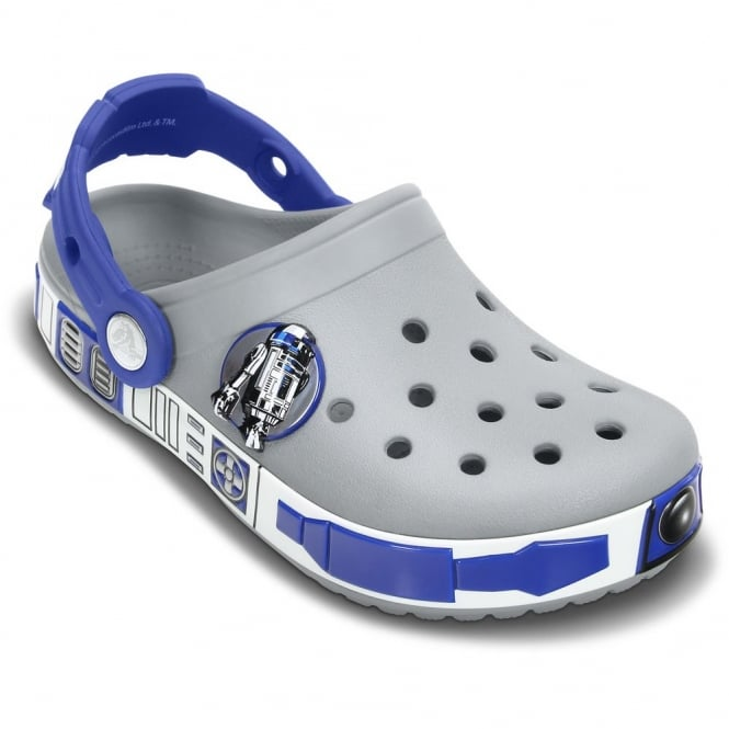 Crocs Star Wars R2D2 Clog Light Grey/Cerulean Blue, special edition with glow in the dark bottom band