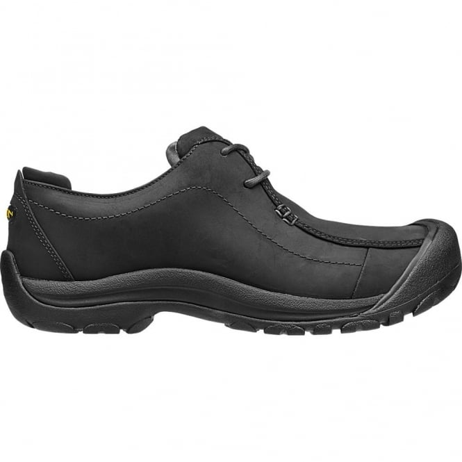 KEEN Mens Portsmouth II Black, smart leather shoe