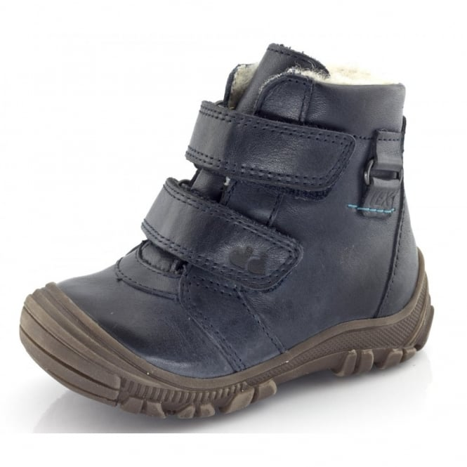 Froddo Minis Ankle Boot Velcro Straps G2110047 Navy, waterproof velcro ankle boot