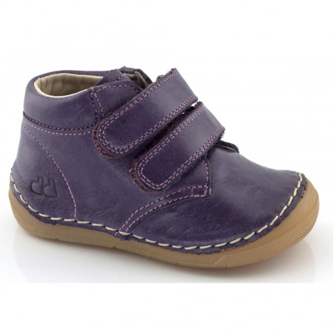Froddo Minis Velcro Ankle Boot G2130069-3 Purple, leather velcro ankle boot