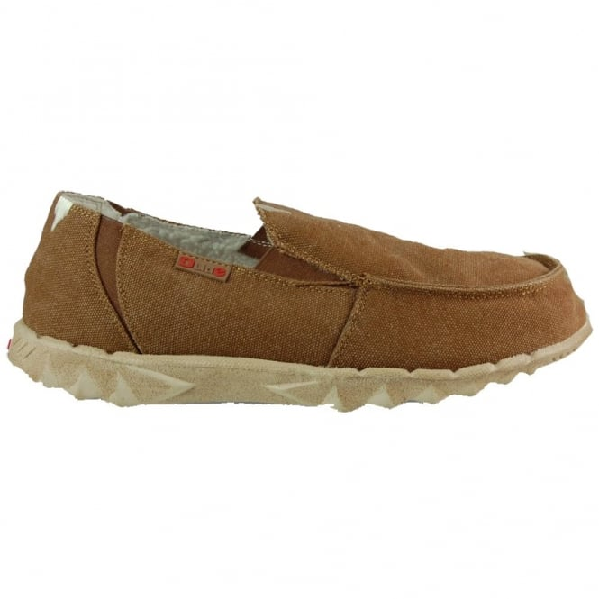 Dude Chalet Coffee, Fur lined Casual shoe